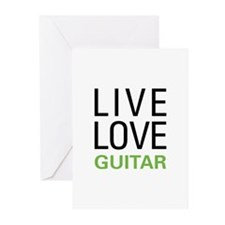Live Love Guitar Greeting Cards (Pk of 20)