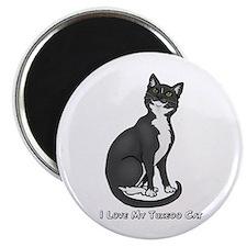 Love My Tuxedo Cat Magnet