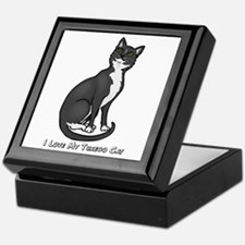 Love My Tuxedo Cat Keepsake Box