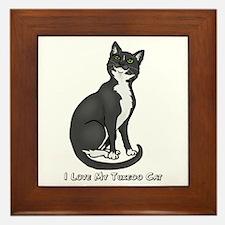 Love My Tuxedo Cat Framed Tile