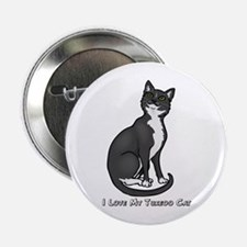 "Love My Tuxedo Cat 2.25"" Button"