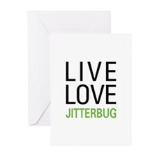 Live Love Jitterbug Greeting Cards (Pk of 20)