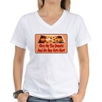 Give Me The Donuts Women's V-Neck T-Shirt