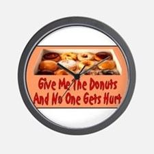 Give Me The Donuts Wall Clock