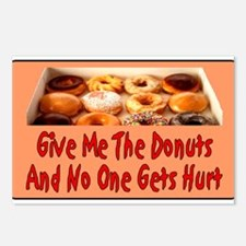 Give Me The Donuts Postcards (Package of 8)
