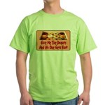 Give Me The Donuts Green T-Shirt