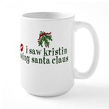 Kristin Kissing Santa Claus Mug