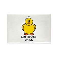 Lutheran Chick Rectangle Magnet (10 pack)