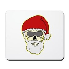 Santa Biker Skull Mousepad