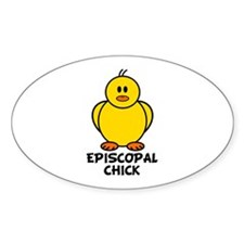 Episcopal Chick Oval Sticker (10 pk)
