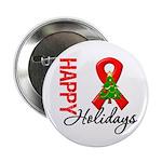 Happy Holidays Red Ribbon 2.25