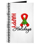 Happy Holidays Red Ribbon Journal