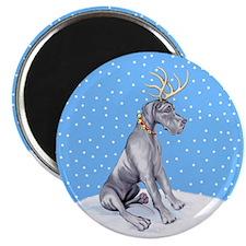 Great Dane Deer Blue UC Magnet