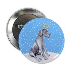 "Great Dane Deer Blue UC 2.25"" Button"