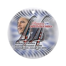 44th President - (blue) - Ornament (Round)