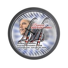 44th President - (blue) - Wall Clock