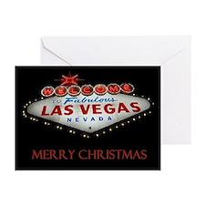 Las Vegas Silent Night Merry Christmas Cards 10