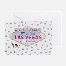 Las Vegas Snowman Merry Christmas Cards 10