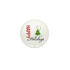 Pearl Ribbon Christmas Mini Button (10 pack)