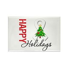 Pearl Ribbon Christmas Rectangle Magnet