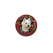 Warm Westie Wishes Mini Button