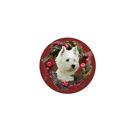 Warm Westie Wishes Mini Button