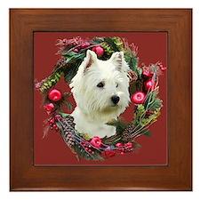 Warm Westie Wishes Framed Tile