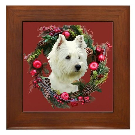 Warm Westie Wishes Framed Tile