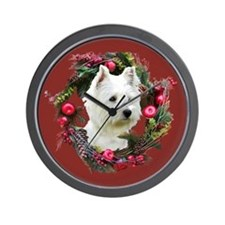 Warm Westie Wishes Wall Clock