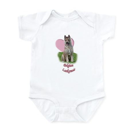belgian laekenois heart Infant Bodysuit
