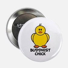 "Buddhist Chick 2.25"" Button"