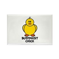 Buddhist Chick Rectangle Magnet