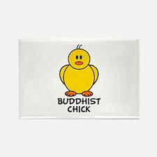 Buddhist Chick Rectangle Magnet