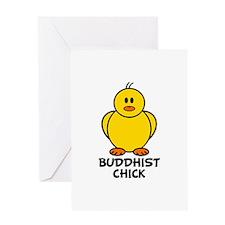 Buddhist Chick Greeting Card