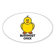 Buddhist Chick Oval Decal