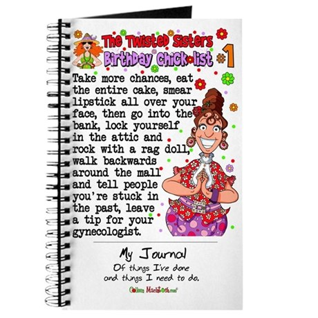 Twisted Sister Chicklist #1 Journal