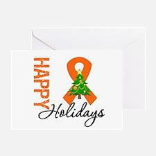 Orange Ribbon Christmas Greeting Card