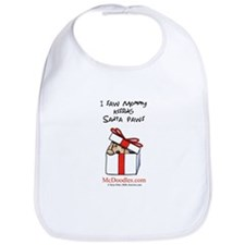 Mommy Kissing Santa Paws Bib