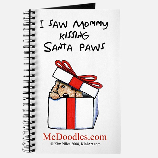 Mommy Kissing Santa Paws Journal