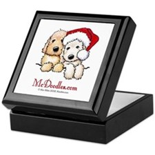 Holiday Pocket Doodle Duo Keepsake Box
