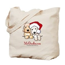 Holiday Pocket Doodle Duo Tote Bag