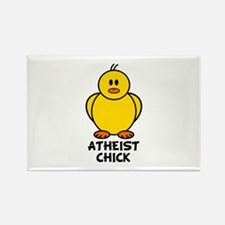 Atheist Chick Rectangle Magnet