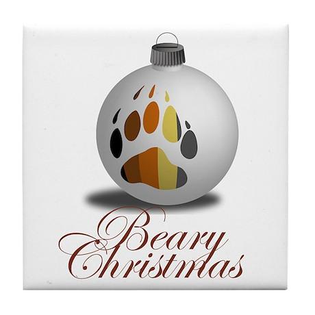 Bear Ornament Tile Coaster