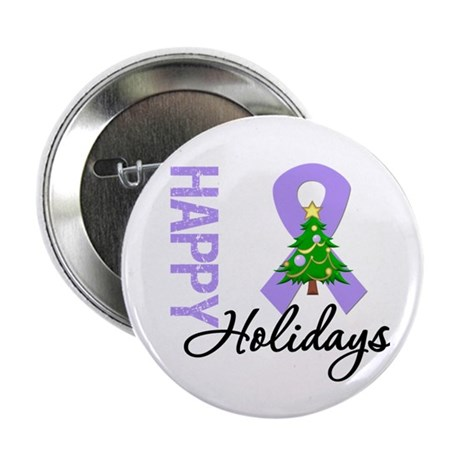 """General Cancer Christmas 2.25"""" Button"""