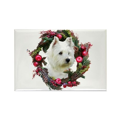 Warm Westie Wishes Rectangle Magnet (100 pack)