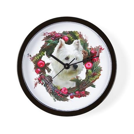 Warm Westie Wishes Wall Clock