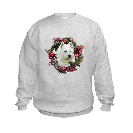 Warm Westie Wishes Kids Sweatshirt