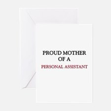 Proud Mother Of A PERSONAL ASSISTANT Greeting Card