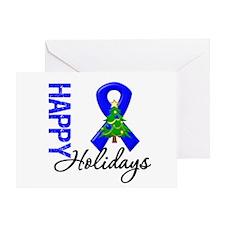 Blue Ribbon Christmas Greeting Card