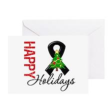 Black Ribbon Christmas Greeting Card